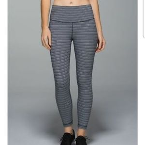 Lululemon hightimes textured stripe leggings